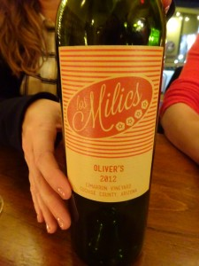 "A delicious local wine from Cochise County, AZ: Los Milics ""Oliver's"""