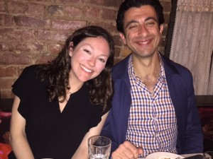 Me and Jack, happy as clams at dinner on the Lower East Side with old friends
