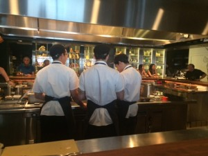 The chefs preparing some of the delicious dishes on our tasting menu