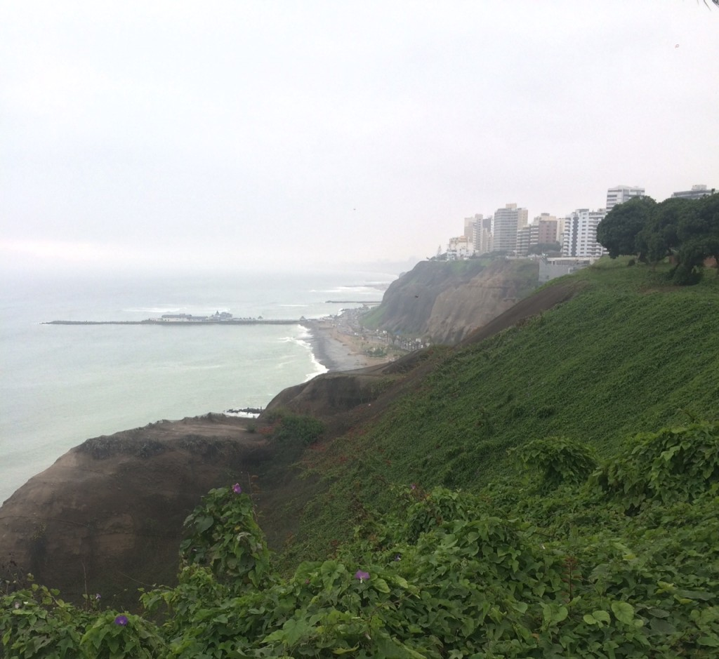 View of Lima coast in MIraflores neighborhood