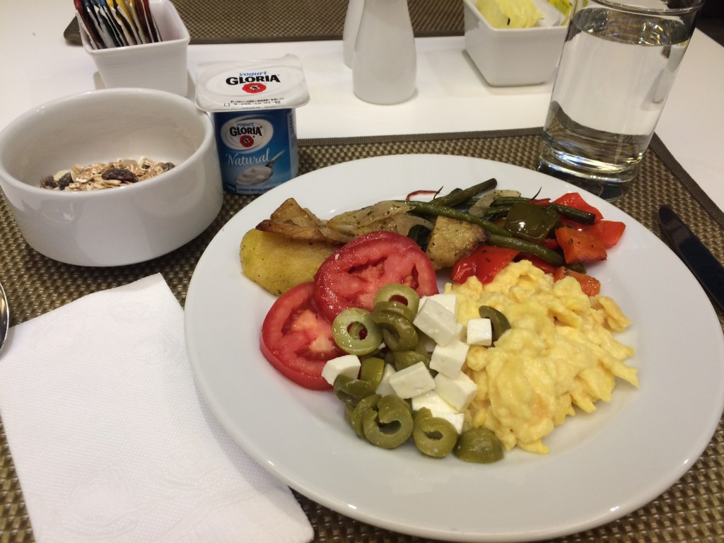 Breakfast from buffet at Four Points
