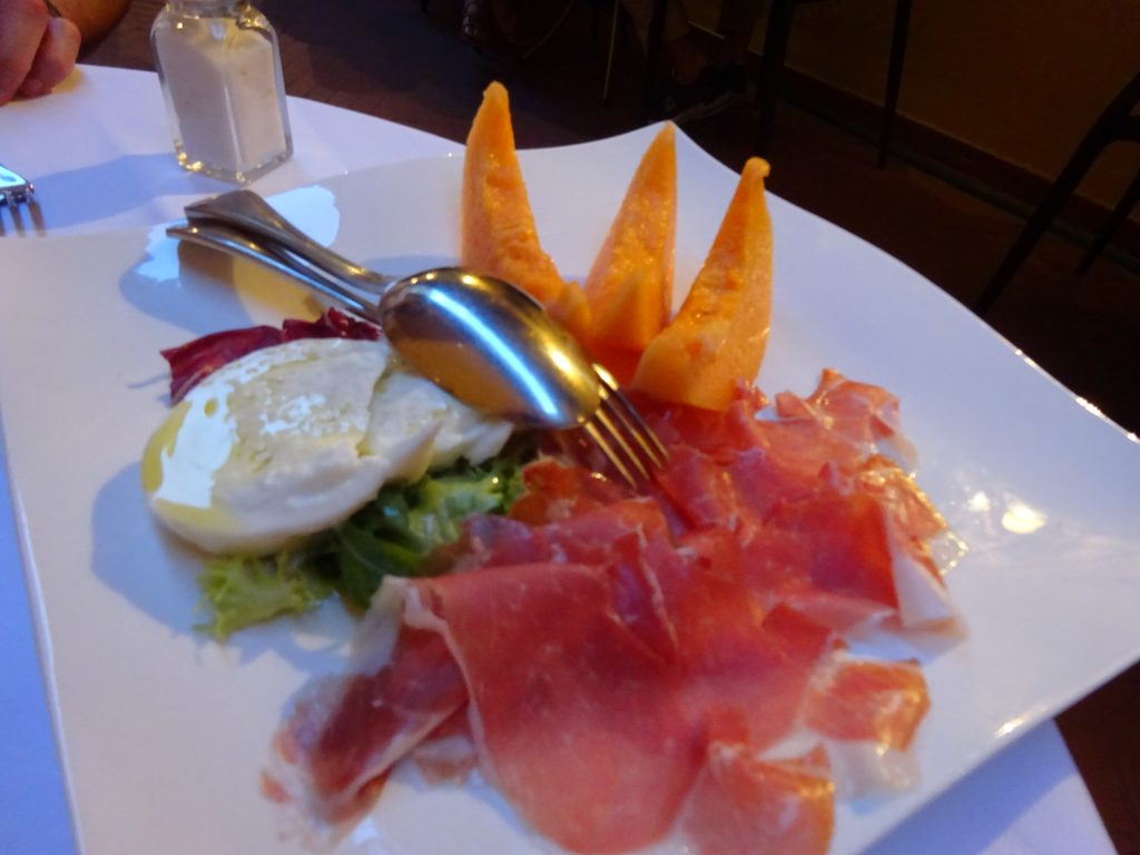 The best melon and prosciutto we had in Italy