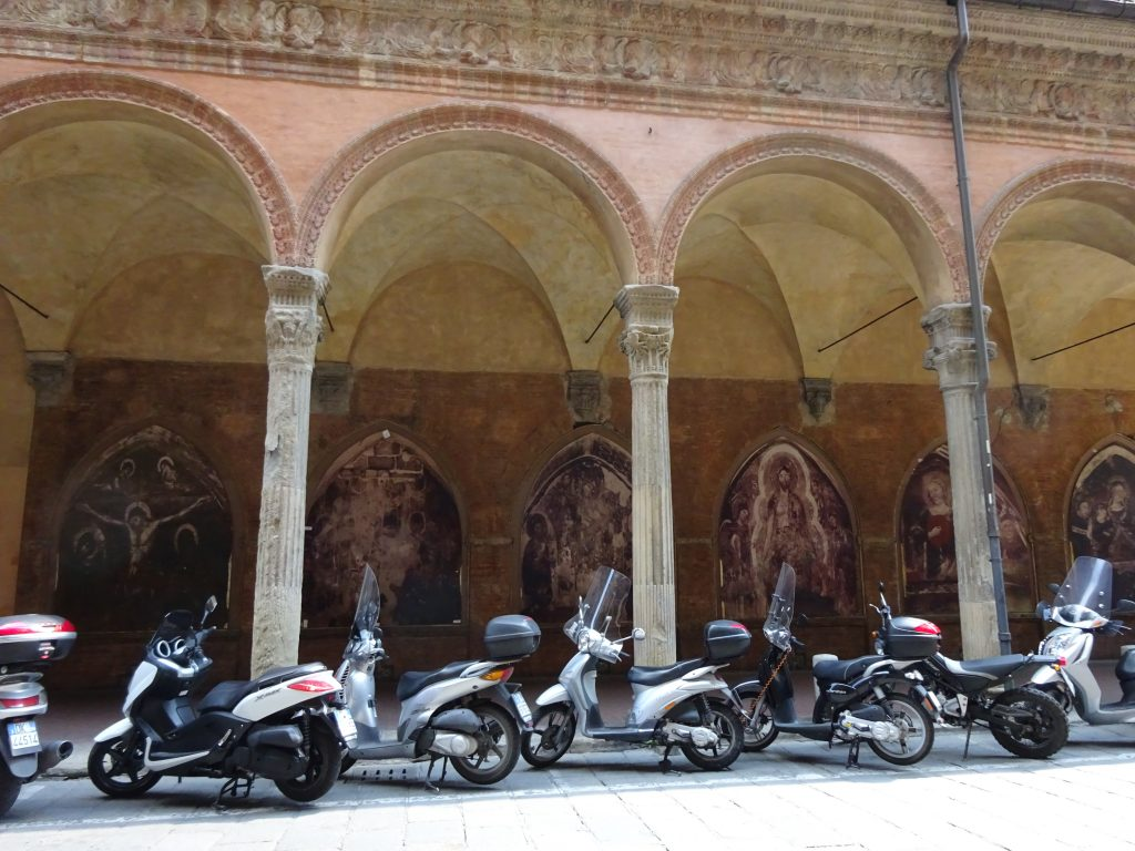 Bologna is famous for its porticos