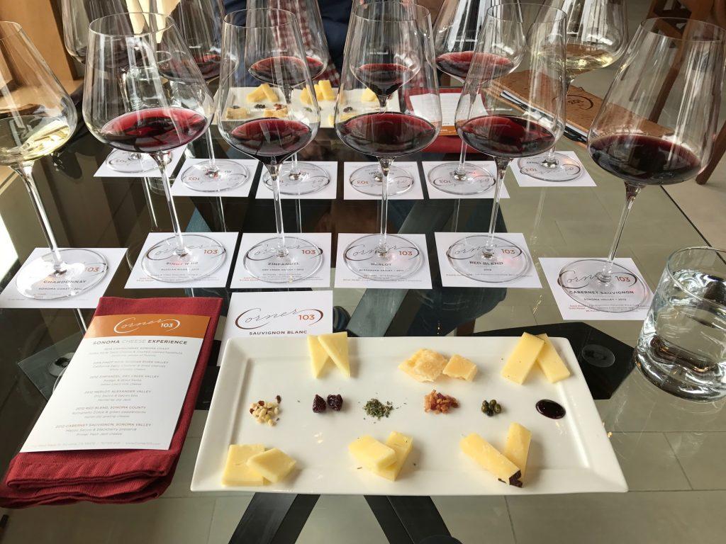 Wine and cheese at Corner 103